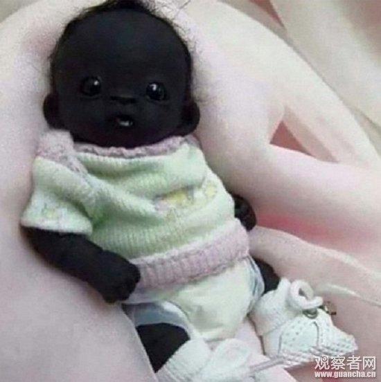 autenticidad del bebé negro, Sudáfrica,