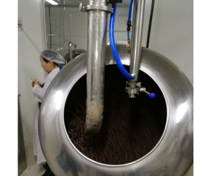 chocolate coating polishing pan machine, chocolate polishing coating machinery