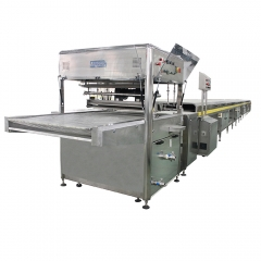 China automatic cake donuts coated chocolate making machine chocolate enrobing machine for sale factory