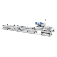 China Chocolate auto feeding flow pack machine for food pillow-type packaging machine chocolate wrapping machine factory