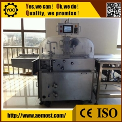 China automatic chocolate enrobing machine, chocolate enrobing machine on sale factory