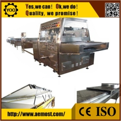 China chocolate cooling tunnel company, 600mm chocolate coat machine supplier factory