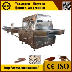 China chocolate enrobing machine on sale, cooling tunnels for chocolate enrobing factory