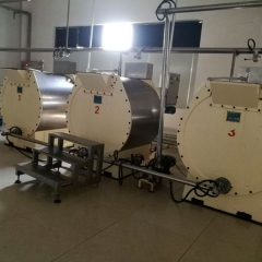 China large capacity 500kg per batch fine grinded chocolate mass processing equipment factory